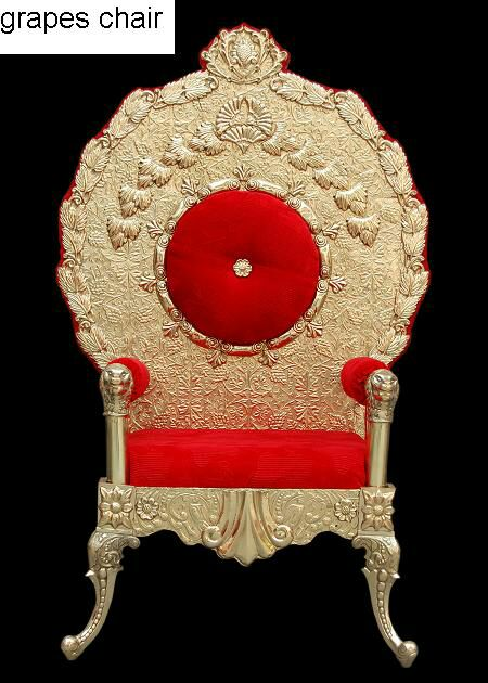 Brass Work Chair for wedding decoration