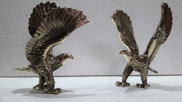 Antique Brass Falcon Sculpture