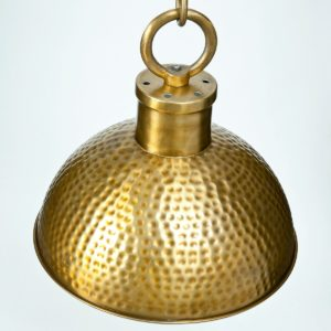 Brass Plated Hammerred Lamp