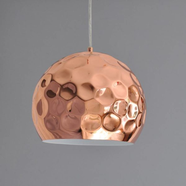 Vintage Lamp in Copper Plating