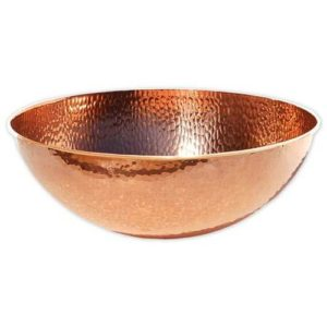 Copper Hammered Bowl for Pedicure