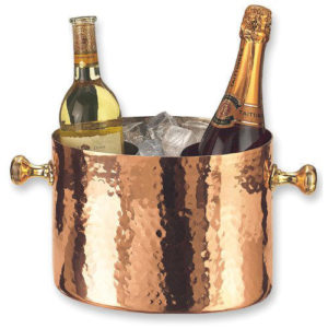 Copper Hammered Wine Bucket