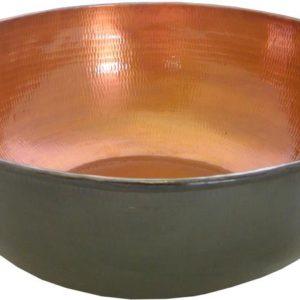 Copper pedicure bowl bronze finish