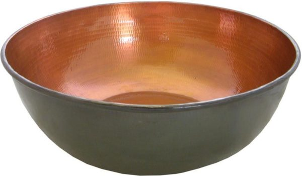 Copper pedicure bowl bronze finish
