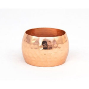 Copper plated napkin ring