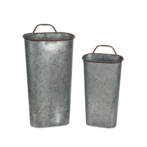 Galvanized Planter Bucket set