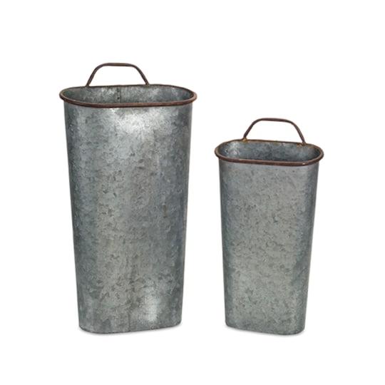 Galvanized Planter Bucket set