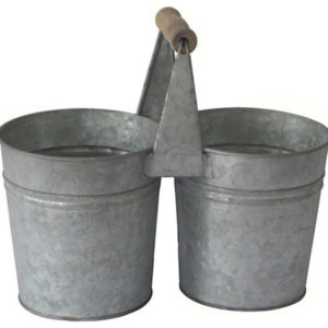 Galvanized two bucket set