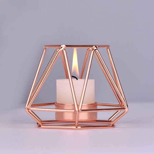 Geometric candle holder stand