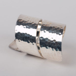 Hammered Napkin Ring in silver plating