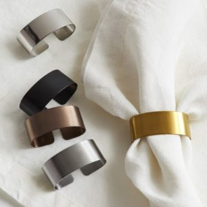 Very simple napkin rings with different plating1