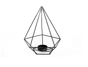 Candle holder in black