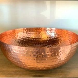 Copper pedicure bowl hammered finish