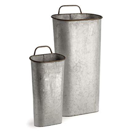 Galvanized Planter Buckets