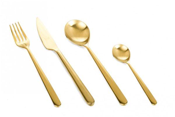 Cutlery with matt gold