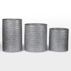 Metal galvanized cylinder
