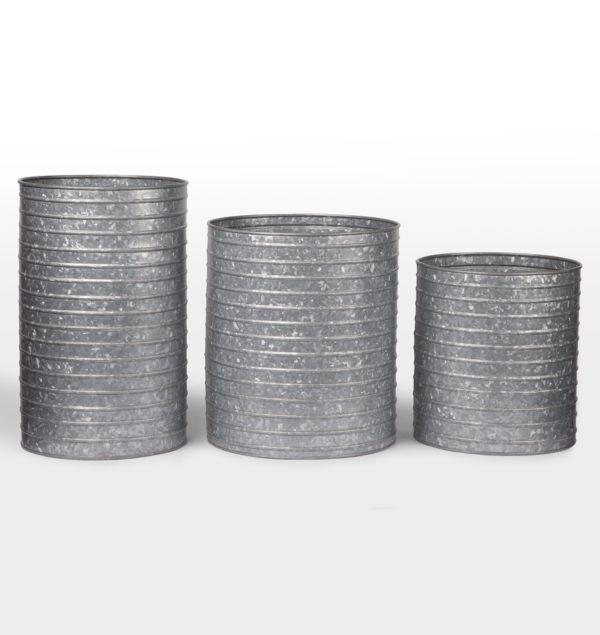 Metal galvanized cylinder