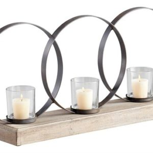Very beautiful candle Holder with metal rings