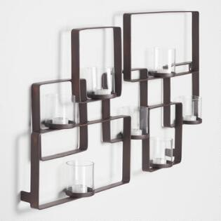 Wall decor candle stand